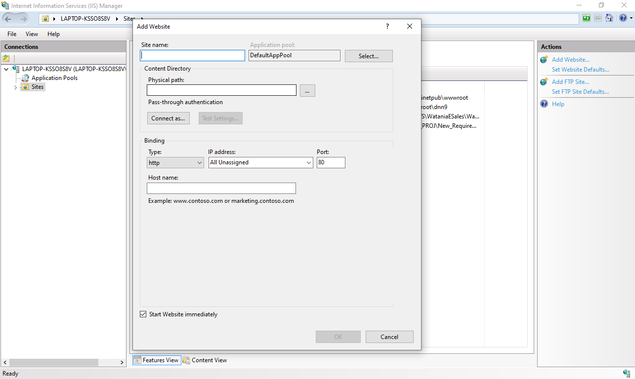 Deployment on IIS